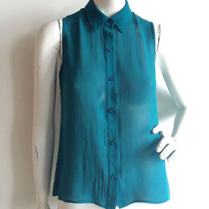 Bellatrix 100% silk sleeveless tunic top xs